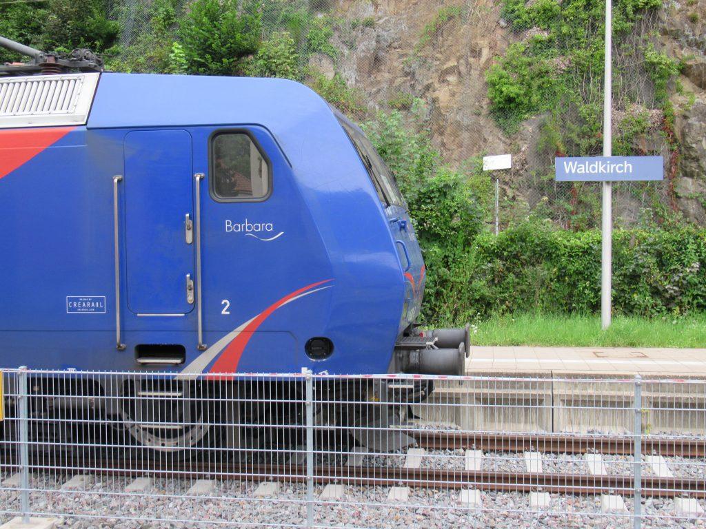 "Lok ""Barbara"" im Bahnhof Waldkirch"