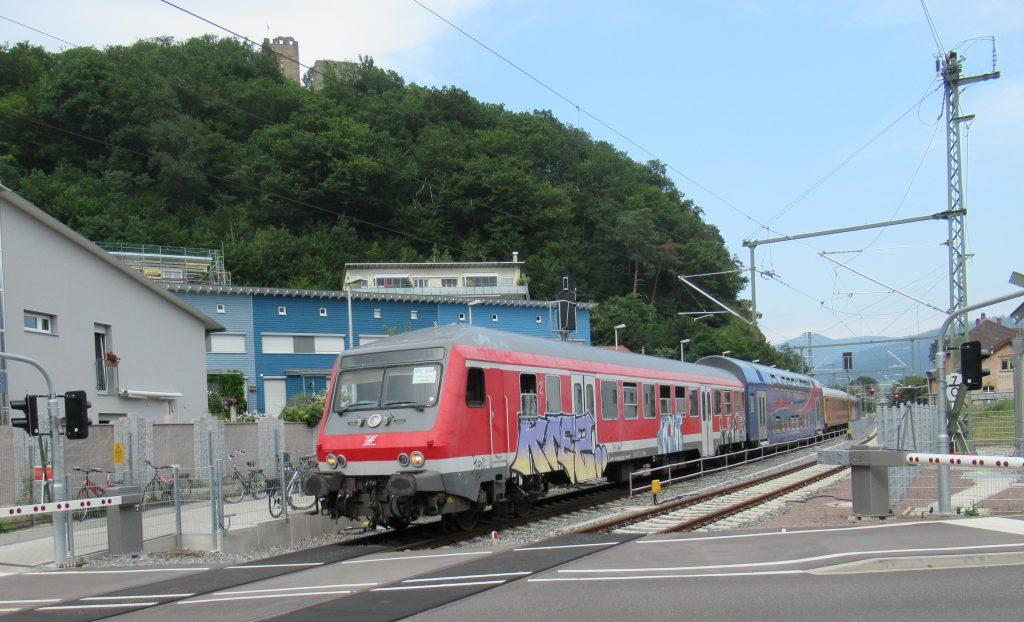 Ausfahrt aus dem Bahnhof Waldkirch